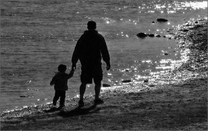 father_and_son_bw
